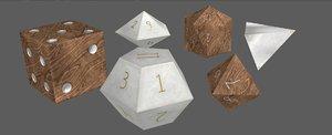 custom dice set 3D