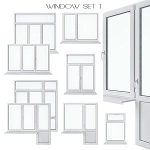 3D model set windows