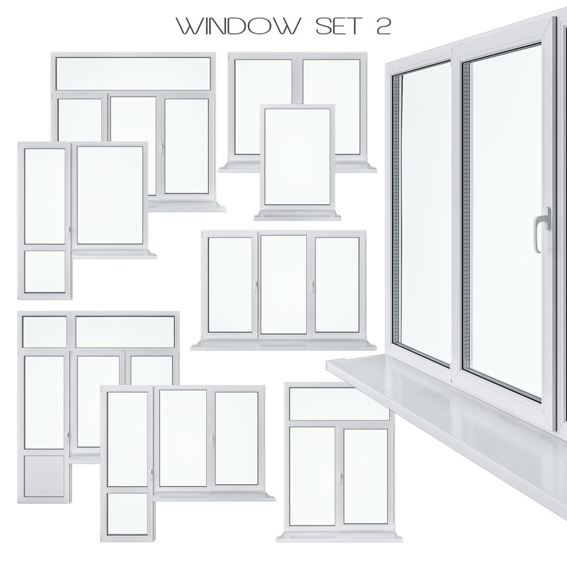 window set 3D model