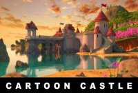 Cartoon Castle Scene