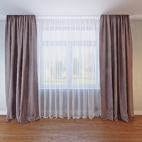 curtains 029 3D model