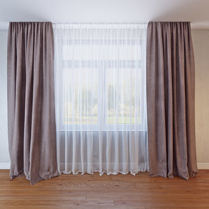 curtains 029 3D model