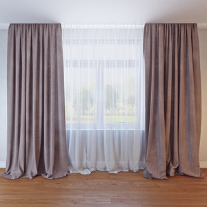 3D model curtains 030