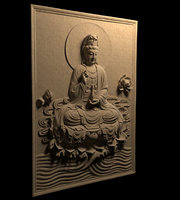 budha relief 3D model