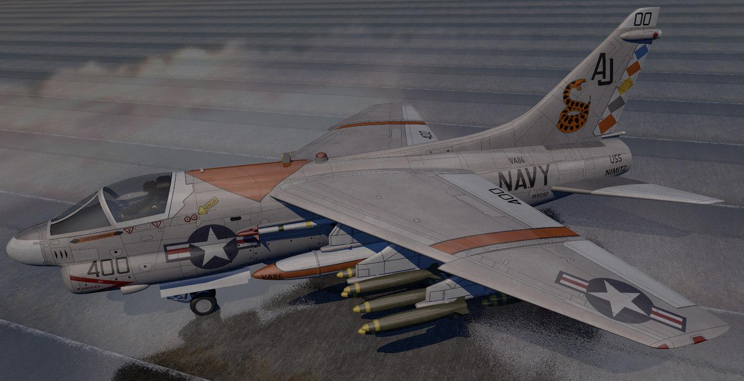 plane vought a-7e corsair model