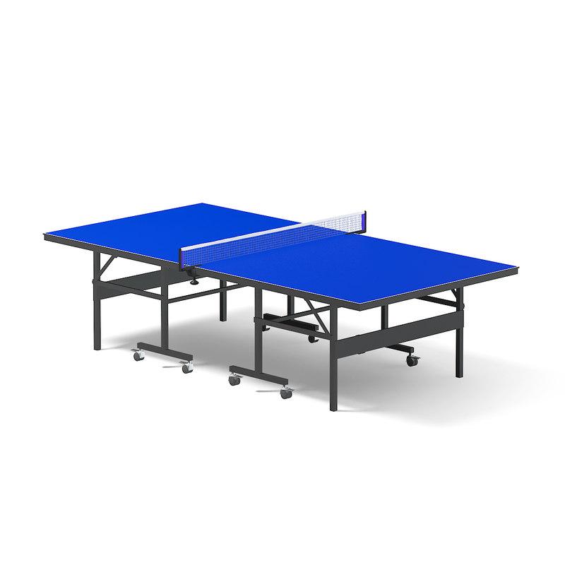 3D blue table tennis