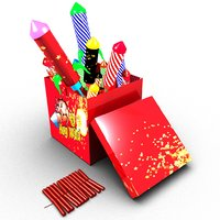 3D box fireworks model
