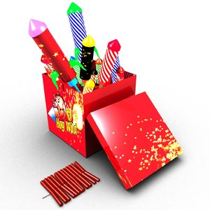 3D box fireworks model