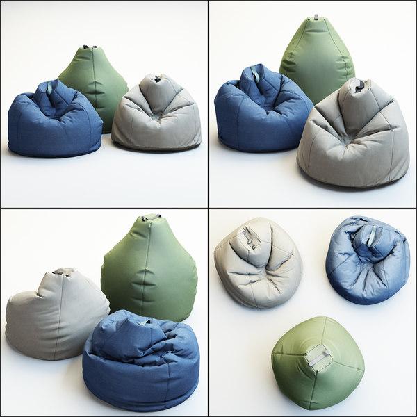 3D bean bag esprit model