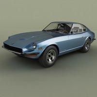 3D 1969 datsun 240z z model
