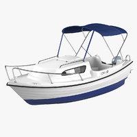 3D sports boat ven 501