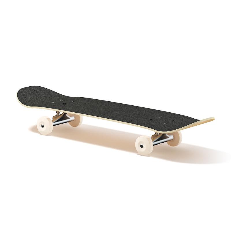 3D classic skateboard model