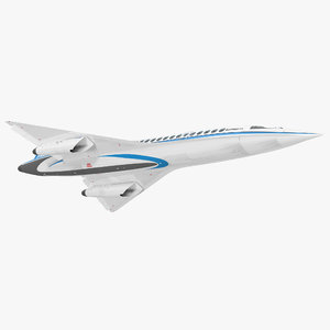 boom supersonic jet rigged 3D model