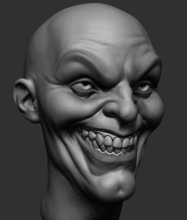 3D joker head ztl model