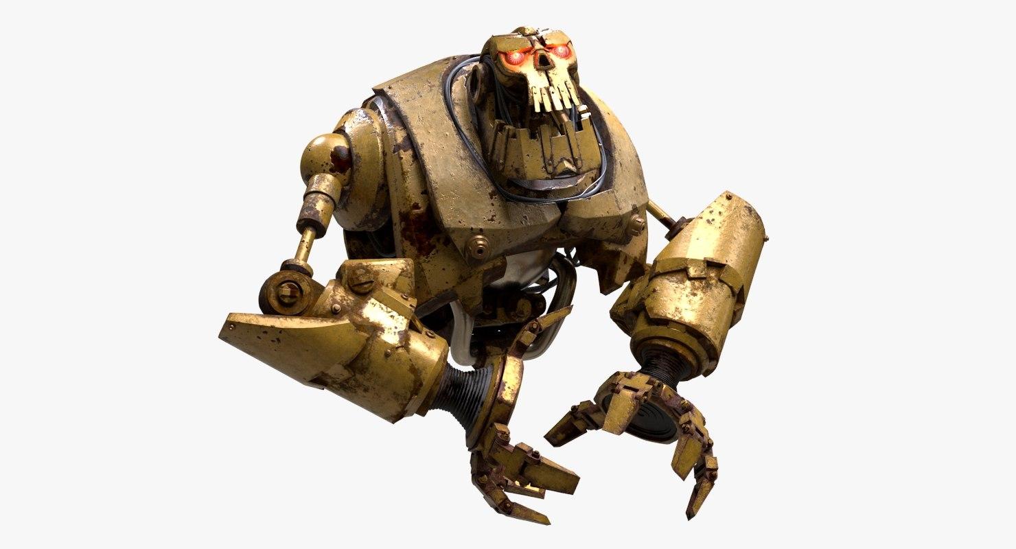 big robot torso 3D model