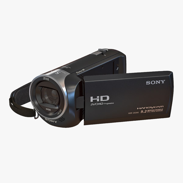 hd camcorder sony hdr 3D model
