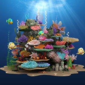 3D coral reef model