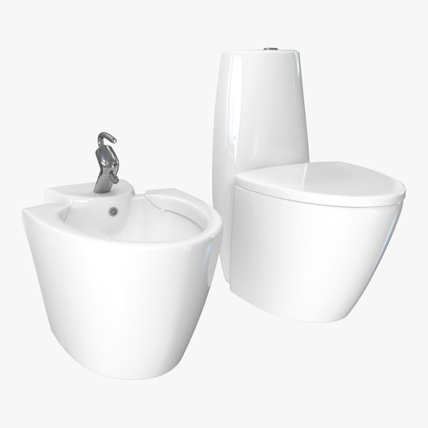 3D piece wc toilet bidet