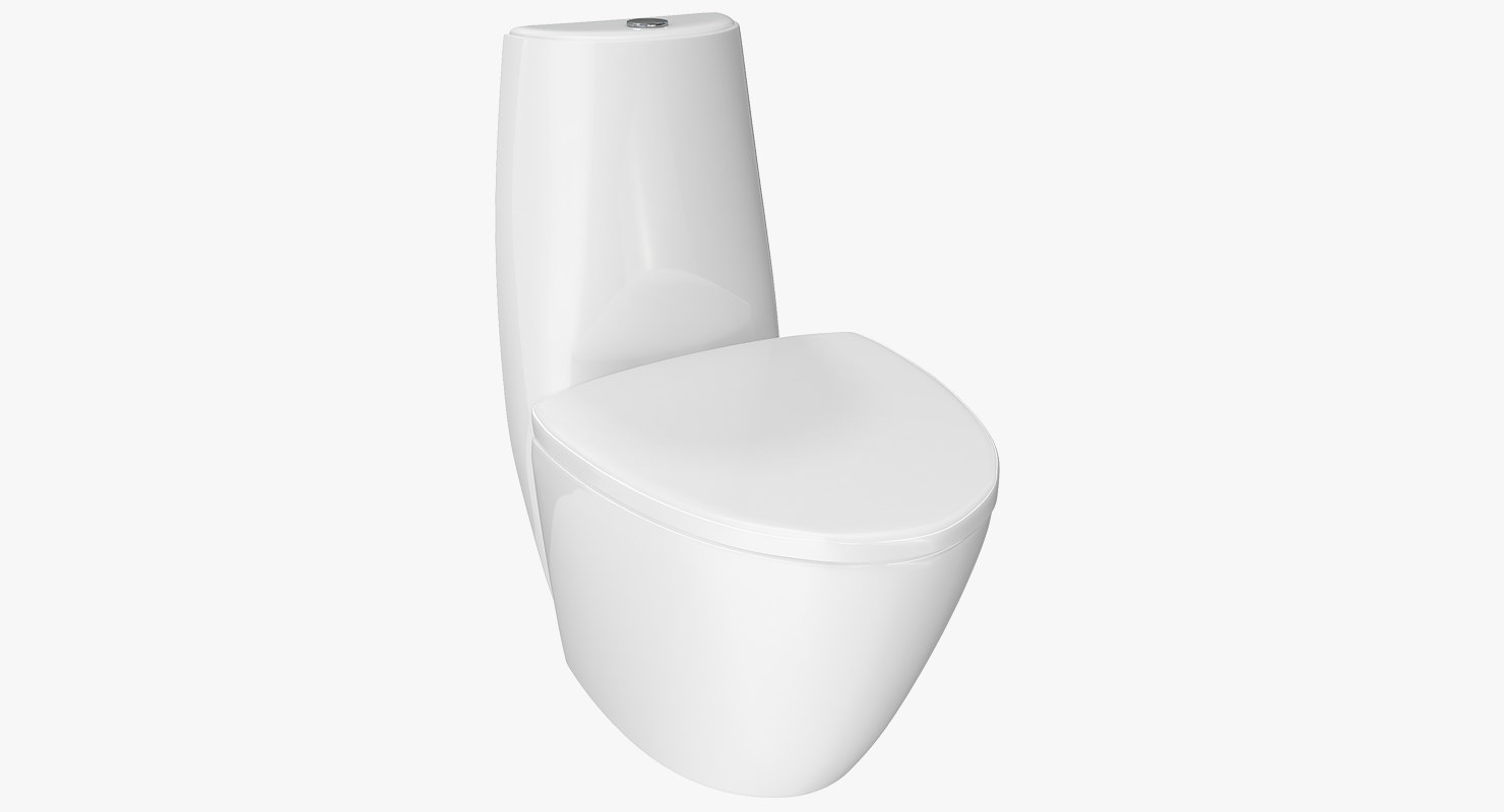 piece wc toilet white 3D model