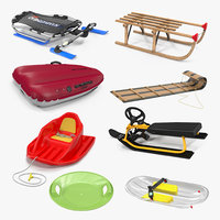 Snow Sleds 3D Models Collection 3