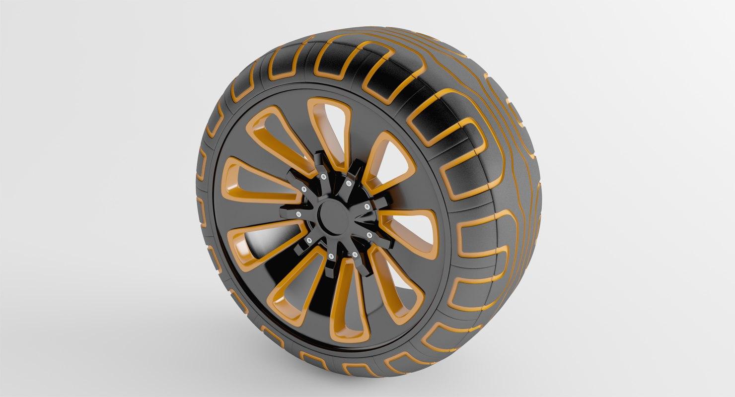 3D concept wheel