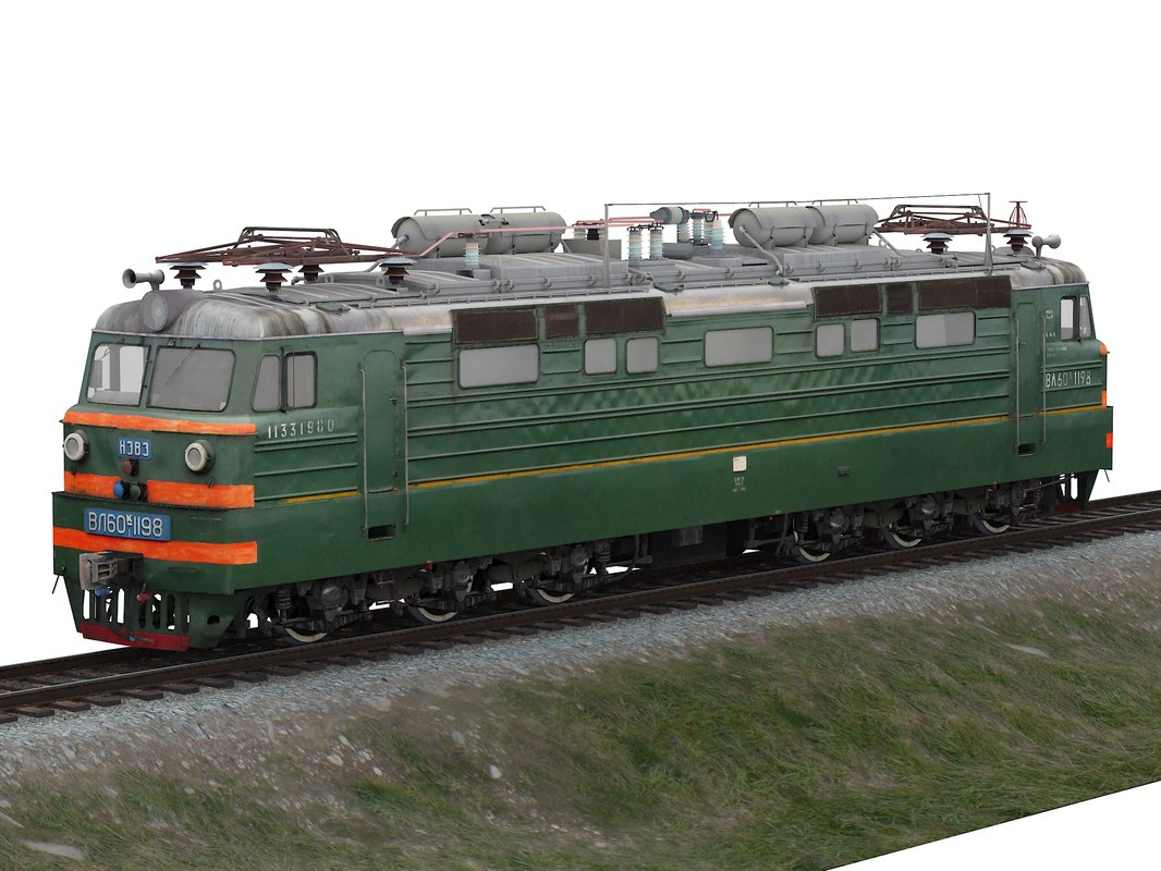 mainline passenger electric locomotive 3D model