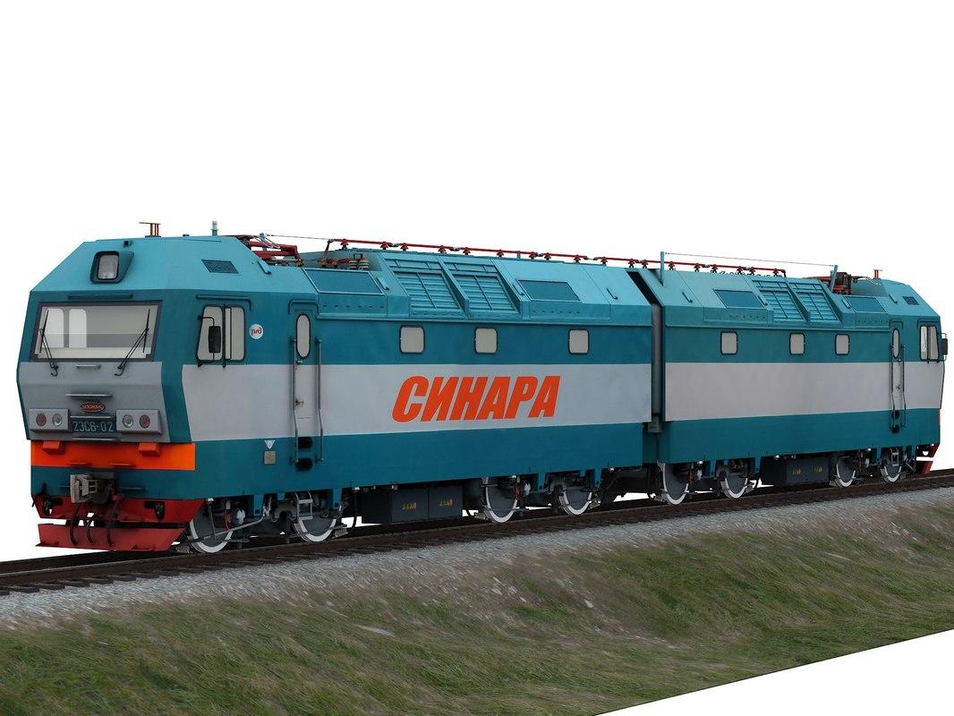 russian locomotive 2es6 model
