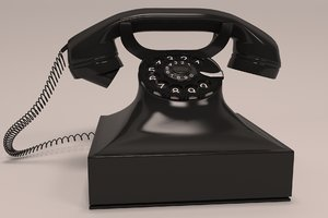 old analog phone 3D