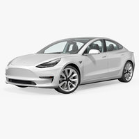 tesla 3 modeled 3D model