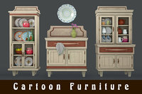 3D cartoon furniture model