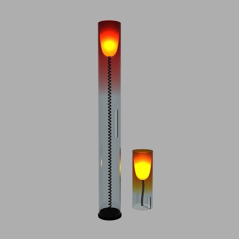 3D kartell toobe lamp