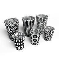 decor cup set 3D model