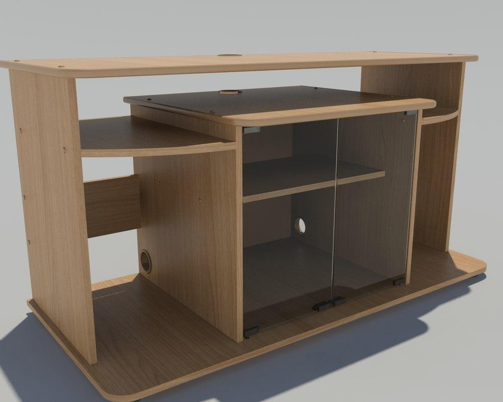 3D tv furniture table model