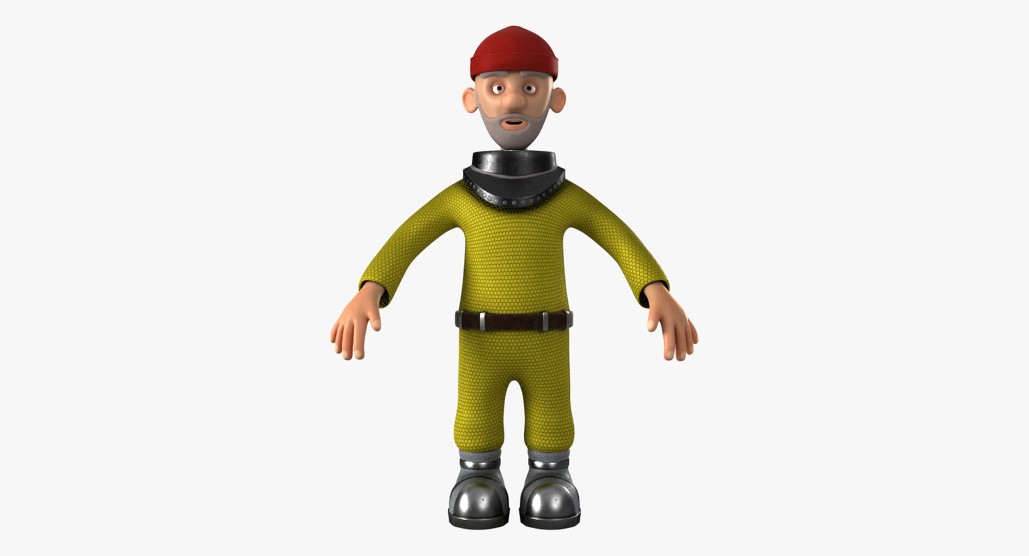 cartoon sailor model