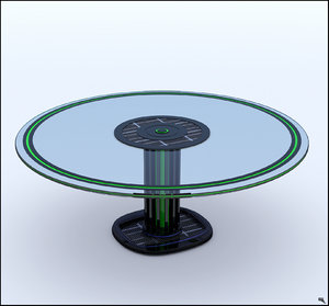 sci-fi table 3D