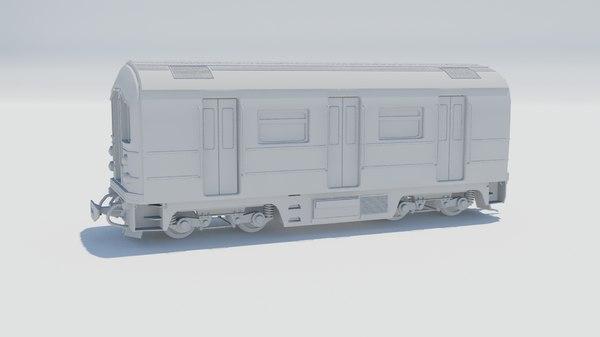 3D train car