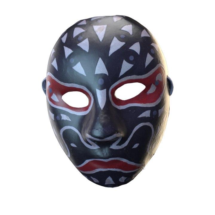 3D japanese mask model