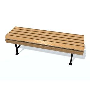 usual bench b 3D model