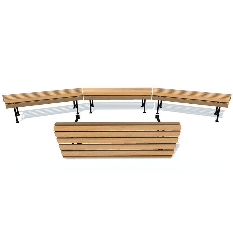 3D usual bench c