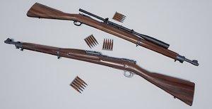 3D m1903 springfield rifle polys model