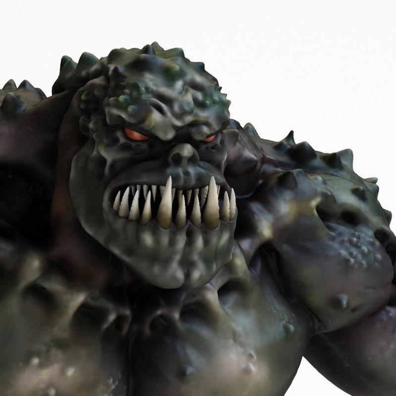 green wolverine monster 3D model