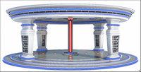 3D sci-fi place model