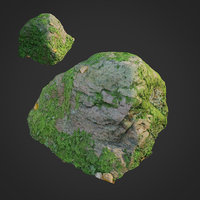 3D model scanned nature stone 020