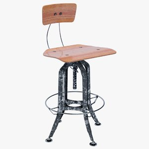 vintage toledo bar chair 3D