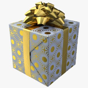3D realistic gift box 01