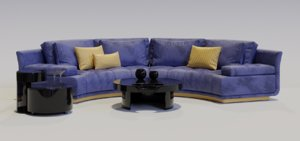 3D sofa table set