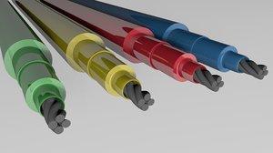 3D wires colors model