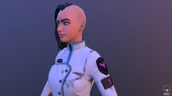 scifi ship officer 3D