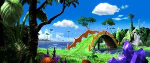 3D cartoon forest scene model