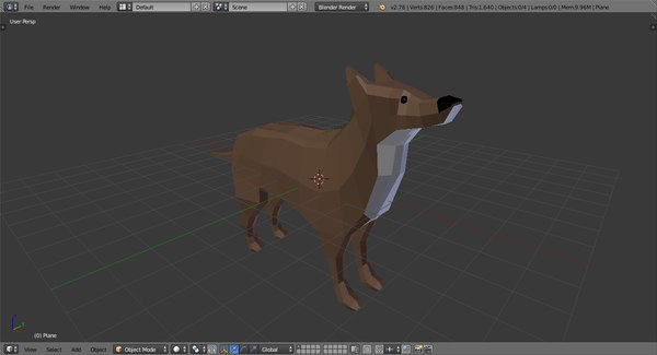 dog shepard 3D